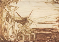 scène africaine by fernand allard l'olivier