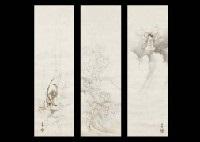 steam god, wave god, lightening god (3 works) by gaho hashimoto