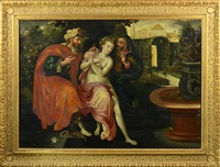 zuzana a starci by frans floris the elder