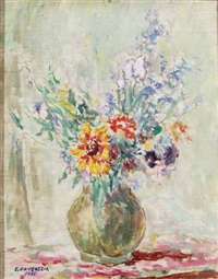 zinnie e fiori vari by eugenio da venezia