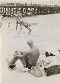 new york (man at beach) by helen levitt