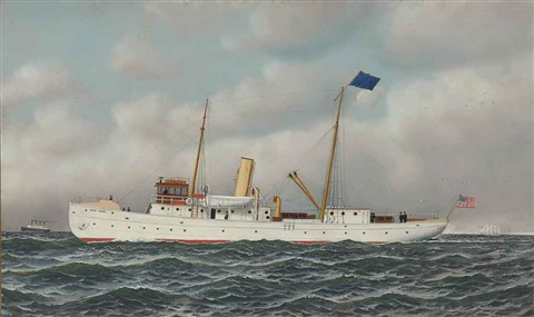 pilot boat new york by antonio jacobsen