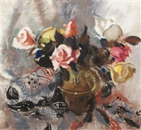 still life with roses by lena alexander