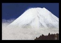 white mt. fuji by kojin nishimura