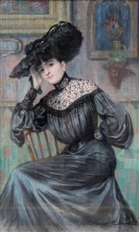 portrait d'élégante by jane atche
