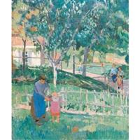 scène de jardin en été by jules adler