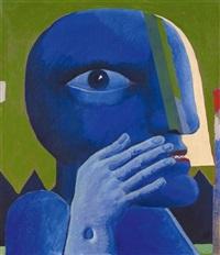 bildnis blau für terre des hommes by horst antes