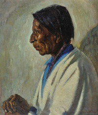 indian portrait by wood w. woolsey