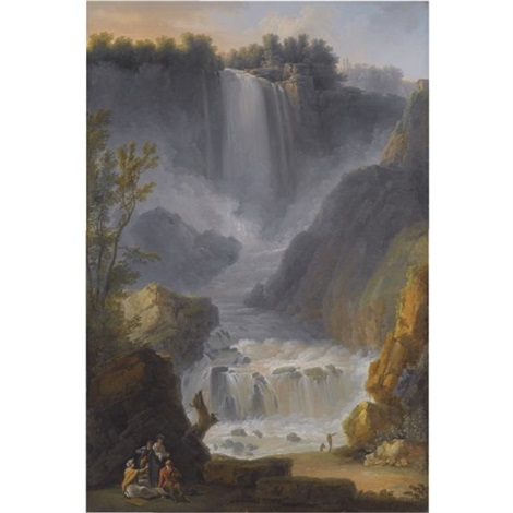 a view of the marmore falls near terni by claude louis châtelet