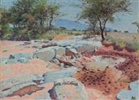 northern waso nyiro waterhole by william robinson leigh