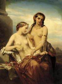 two oriental ladies by nicaise de keyser