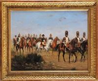 napoléon, son etat major et les grenadiers à cheval de la garde impériale by paul emile léon perboyre