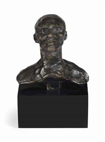 lun des bourgeois de calais buste de jacques de wissant dit tête no 228 by auguste rodin