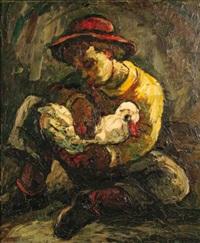 garçon avec un canard by maurice vagh-weinmann