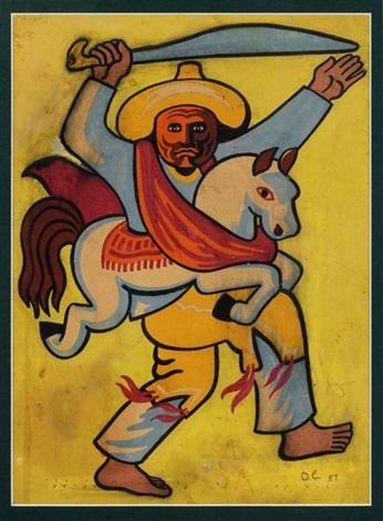 guerrero a caballo by olga costa