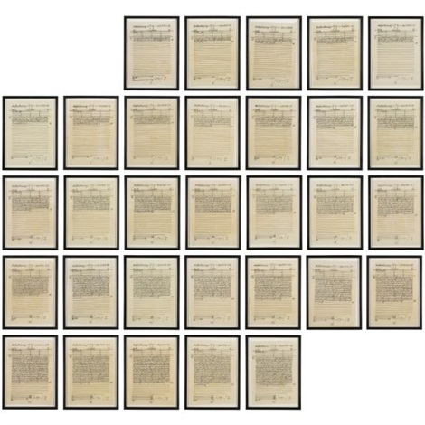 untitled in 31 parts by hanne darboven