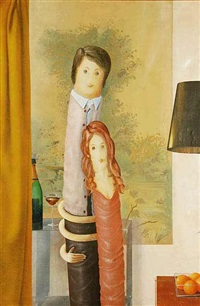 a self portrait with his wife by jan kratochvil