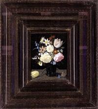 blumenstrauß in einer gläsernen vase by ambrosius bosschaert the younger