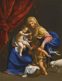 the madonna and child with the infant saint john the baptist by guido reni