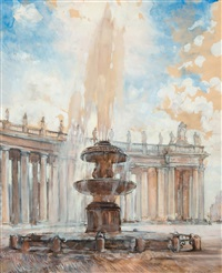 saint peter's square in rome by ekaterina kachura-falileeva