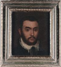 ritratto di gentiluomo con colletto bianco by carletto carliari