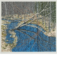sky in cora's marsh by neil welliver