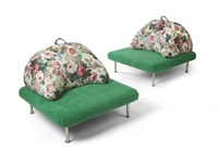 wimbledon a pair of lounge chairs by ceretti de rossi