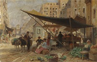 auf dem markt in neapel by franz theodor aerni