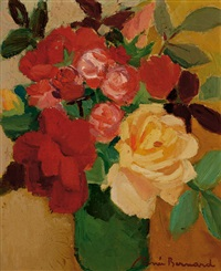 roses in a vase by renee bernard