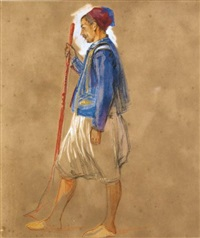 a study of a greek man by john frederick lewis