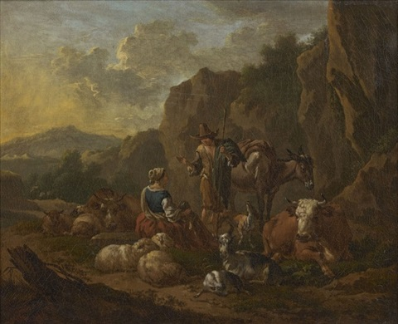 scène pastorale by dirk van bergen
