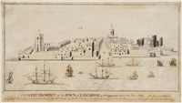 the west prospect of the town of liverpool as it appeared about the year 1680 by john eyes