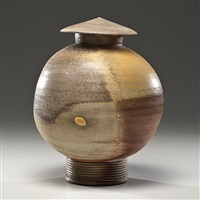 wood fired lidded vessel by daniel anderson
