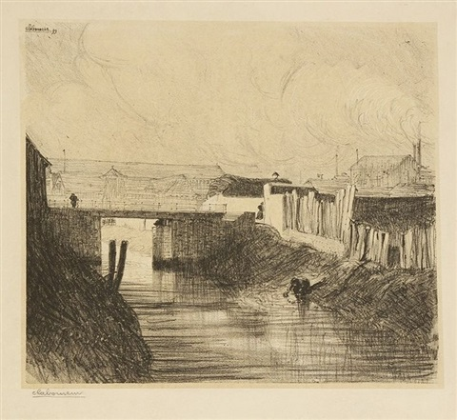 le canal pelloutier à nantes by jean emile laboureur