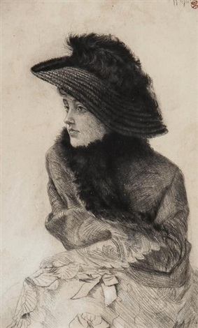 portrait of mn la frileuse by james jacques joseph tissot