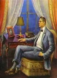 portrait de fiodor chaliapine by kornelia khazatskaia