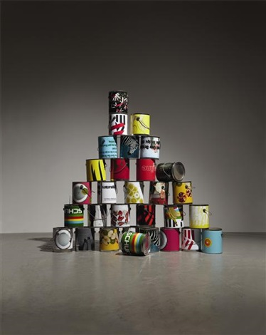 30 paint can from (dear ketel one drinker hello again. the failever of judgement part 4) by kelley walker and wade guyton