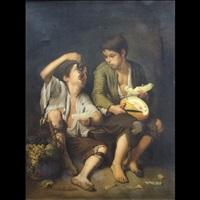 bambini (pair) by bartolomé esteban murillo