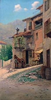 maréchal ferrant d'un village de montagne by rené vauquelin
