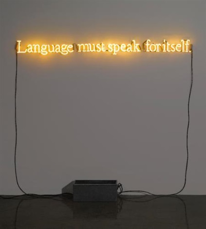 no number 3 yellow by joseph kosuth