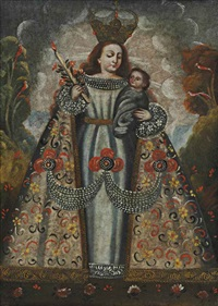 virgin and child by peruvian school-cuzco (18)