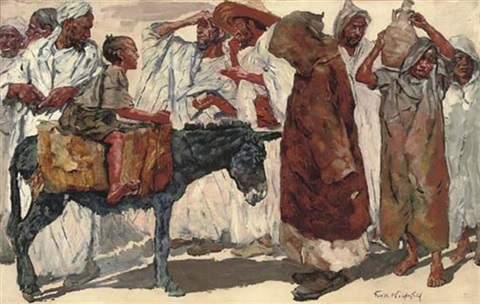 at the bazaar by erich wolfsfeld