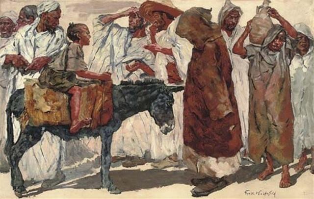 at the bazaar by erich wolsfeld