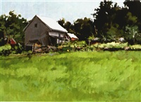 meadow and barn by j. thomas r. higgins