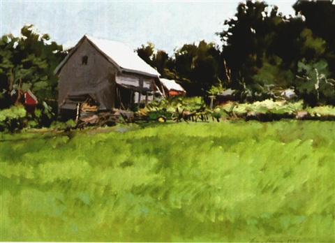 meadow and barn by j thomas r higgins