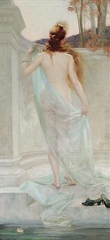 diane sortant de son bain by edouard-marie-guillaume dubufe