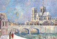 notre-dame de paris, les quais de la seine by jacques camus