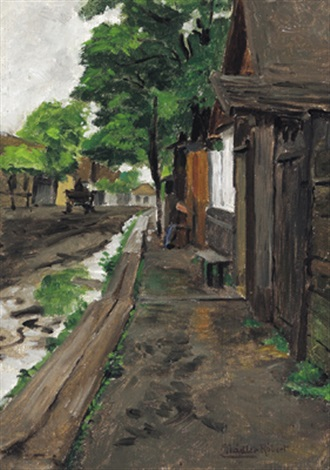 dorfstraße in ungarn by robert nadler