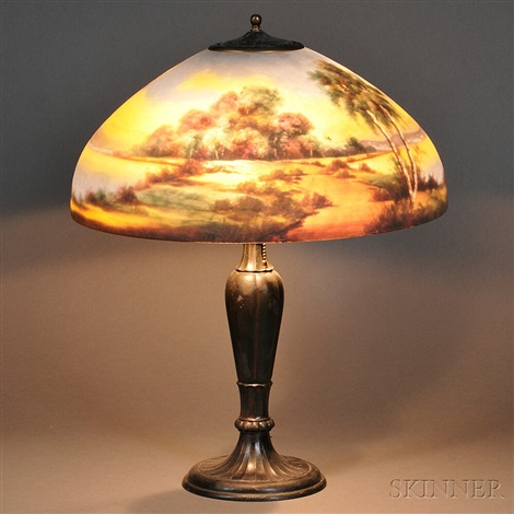 Reverse Painted Table Lamp By Jefferson Lamps
