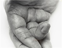 self-portrait, hand, palm by john coplans